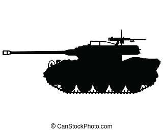 ww2, tanque, -, destructor