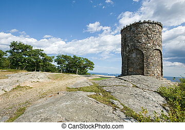 WWI stone tower - Observation tower in Camden Hills state...