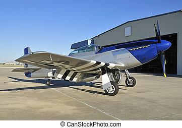 wwii, ムスタング, p-51, 戦闘機