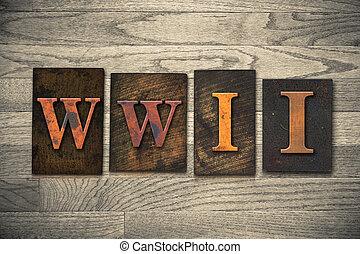 wwii, 木製である, 概念, 凸版印刷