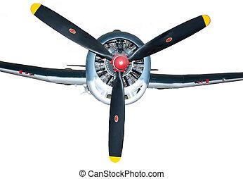 wwii, homlokszalag, vadászrepülőgép, kilátás