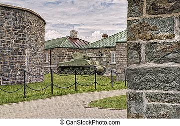 WWII M4 Sherman Tank at La Citadelle in Quebec City, Quebec...