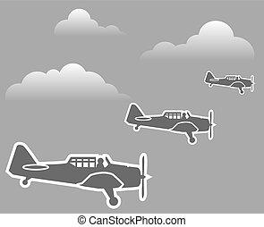 wwii, samoloty