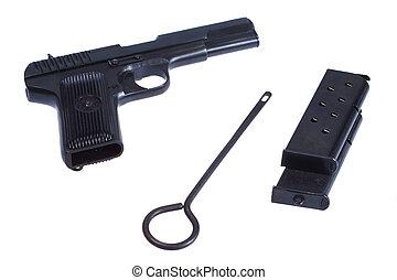 WWII Soviet handgun TT (Tula, Tokarev) isolated on white...
