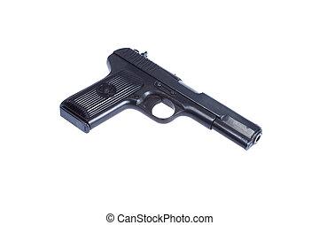 WWII Soviet handgun TT (Tula,Tokarev) isolated on white...