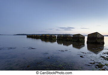 WWII Tank Traps - WWII tank traps at Studland in Poole...