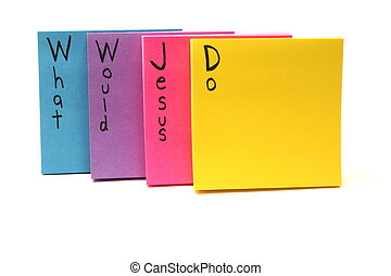 WWJD What Would Jesus Do Sticky Notes