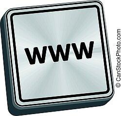 www, botão