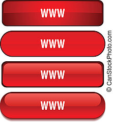 WWW web buttons. Vector illustration.