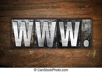 www Concept Metal Letterpress Type