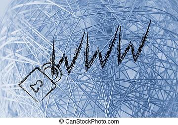 www, confidentiel, &, serrure, risques, internet, symbol:, sécurité