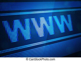 www, digital, pantalla, ilustración, 3d
