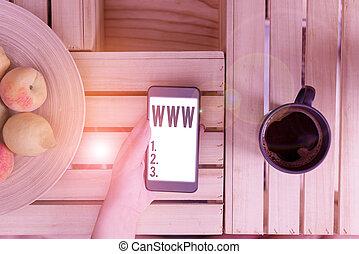 www., html, red, en línea, foto, texto, actuación, ...