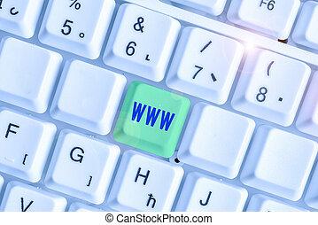 www., html, red, en línea, showcasing, escritura, foto, ...