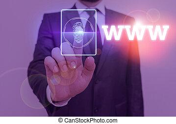 www., html, red, en línea, texto, escritura, significado, ...