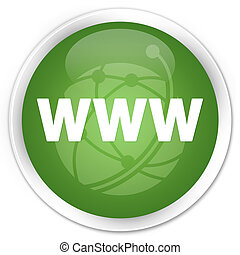 WWW icon green button