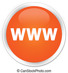 WWW icon orange button