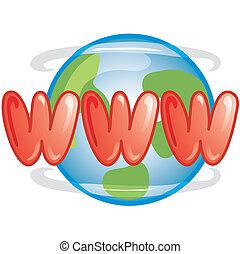 WWW icon - Stylized www icon or symbol.