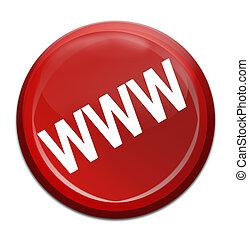 www icon - www red icon