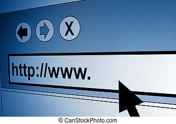 internet - www internet browser showing a communication...