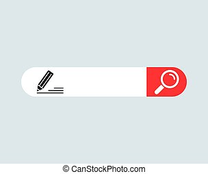 WWW internet search bar icon isolated on background. Tool for web site, app, ui and logo