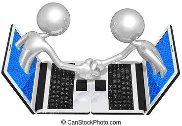 WWW Online Handshake Business