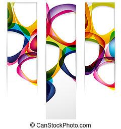 www, vertical, abstratos, formulários, bordas, bandeira, seu, vazio, design.