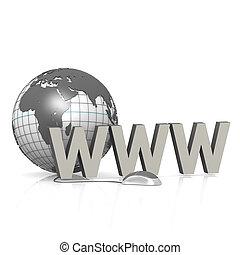 WWW with globe