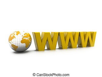 Www with world. Internet concept