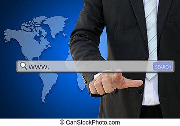 www. written in search bar