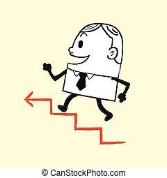 wyścigi, do góry, handlowiec