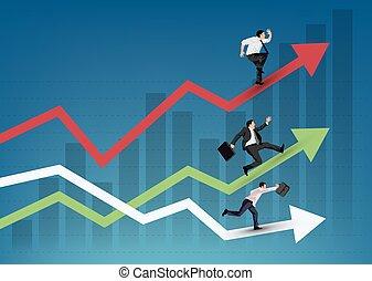 wyścigi, handlowy zaludniają
