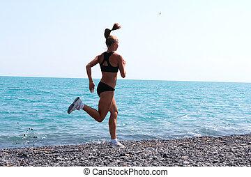 wyścigi, jogging, kobiety