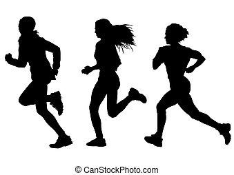 wyścigi, kobieta