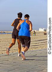 wyścigi, plaża