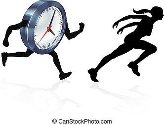 wyścigi, pojęcie, poza, czas