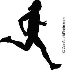 wyścigi, szybkość, atleta, człowiek
