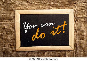 wy możecie zrobić to, motivational, messsage