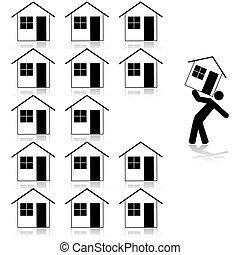 wybierając, dom