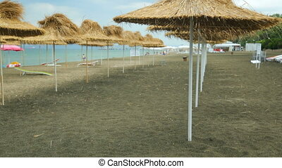 wybrzeże, plaża, lato, prospekt