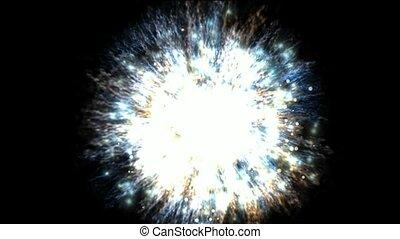 wybuch, grono, galaktyka