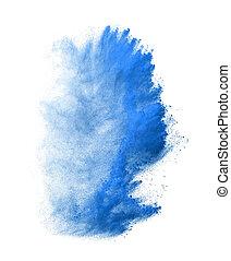 wybuch, odizolowany, marznąć, ruch, tło, kurz, biały