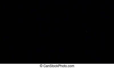 wybuch, piłka, ogień, odizolowany, wysoki, tło., aparat fotograficzny, płomień, szybkość, czarnoskóry