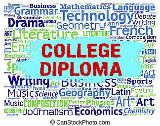 wychowywać, środki, dyplom, kolegium, nauka, kawalerowie