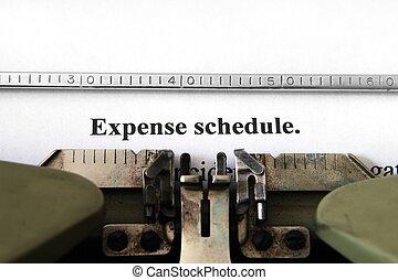 wydatek, harmonogram