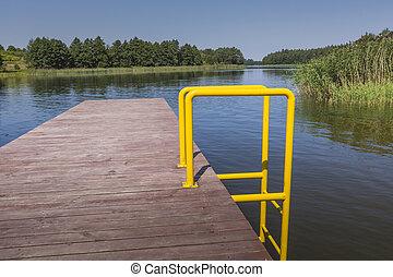 Wydminy lake on Masuria in Poland.