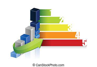 wykres, barwny, handlowy, powodzenie