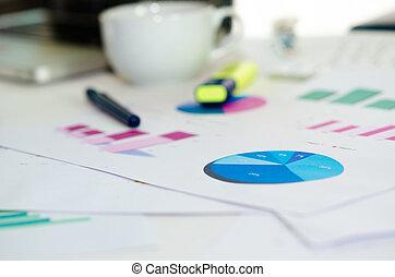wykres, handlowy, analiza