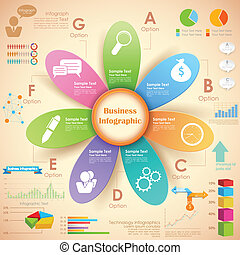 wykres, handlowy, infographics