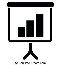 wykres, handlowy, powodzenie